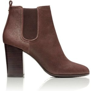 Tory Burch Margaux Bootie Distressed Suede in Java